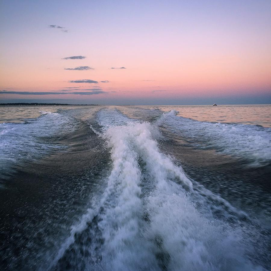 Setting Sail Photograph - Boat Waves by Joseph Mari