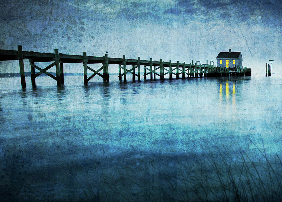 Boathouse Photograph - Boathouse Blue by Guy Crittenden