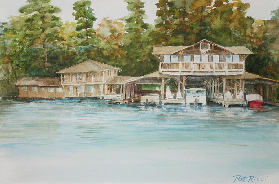 Boathouse on Stout's Island by Patricia Ricci