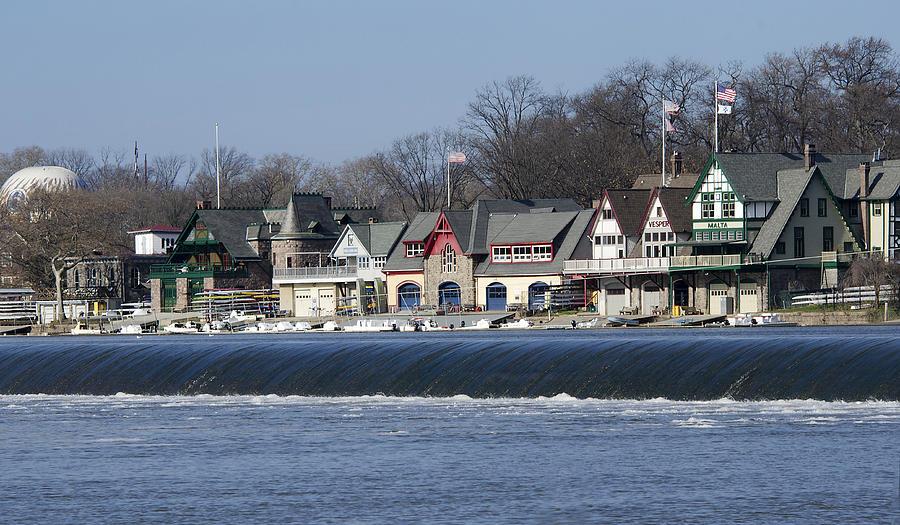 Boathouse Photograph - Boathouse Row - Philadelphia by Brendan Reals