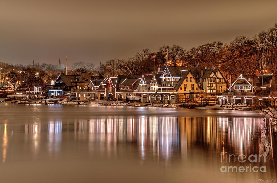 Philly Photograph - Boathouse Row Christmas by Mark Ayzenberg