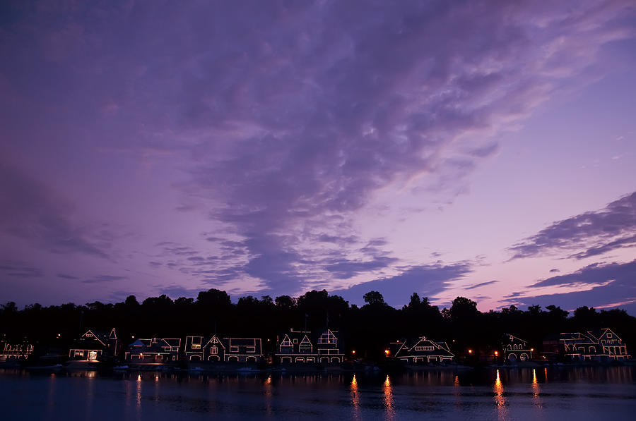 Boathouse Row Photograph - Boathouse Row In Twilight by Bill Cannon