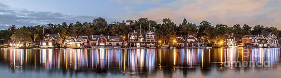 Philadelphia Photograph - Boathouse Row Lftc by Stacey Granger