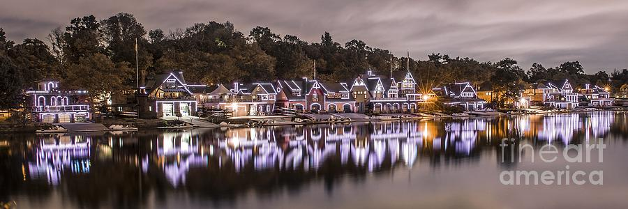 Boathouse Row Photograph - Boathouse Row Night by Stacey Granger