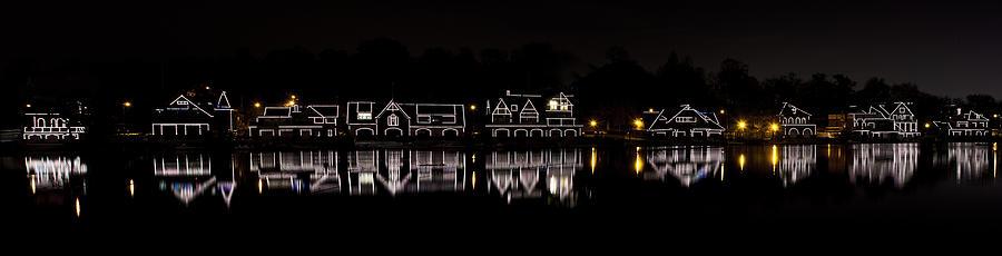 boathouse Row  Photograph - Boathouse Row Panorama - Philadelphia by Brendan Reals