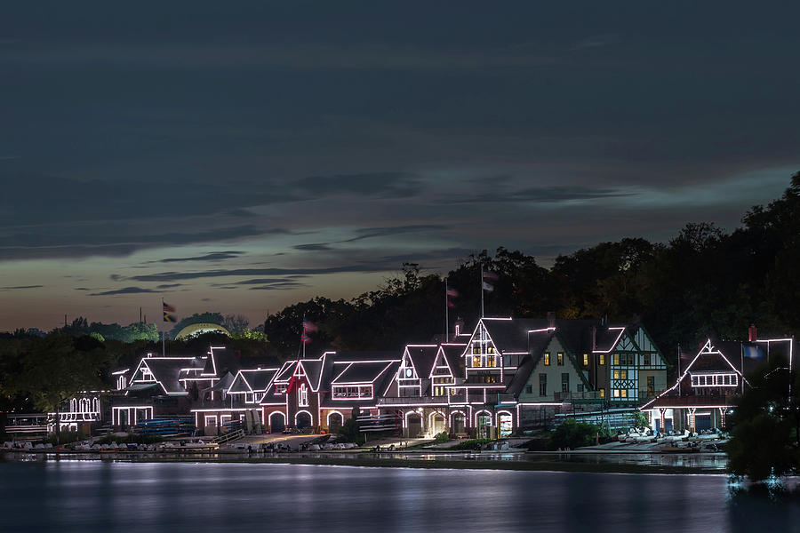 Boathouse Row Philly Pa Night Photograph