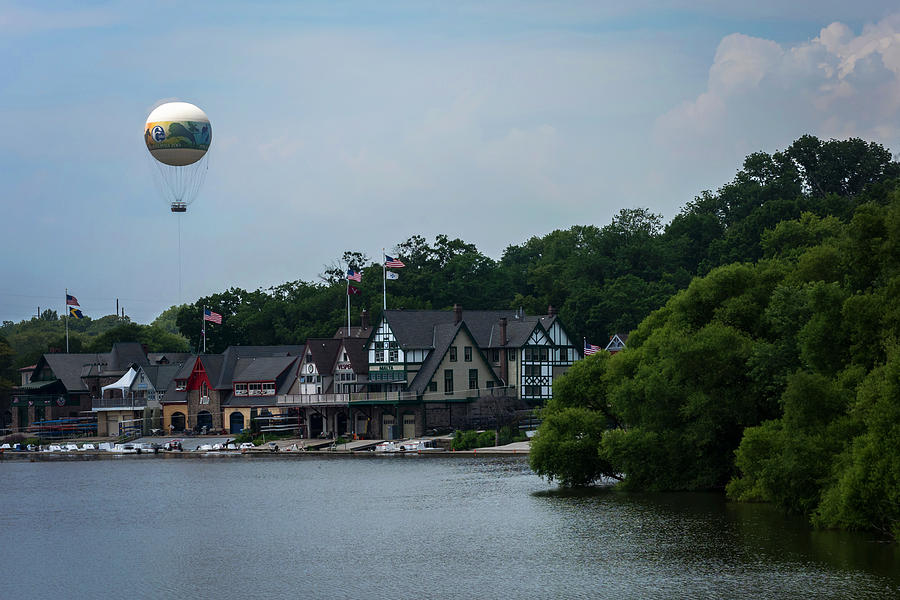 Boathouse Row With Zoo Balloon Philadelphia by Terry DeLuco