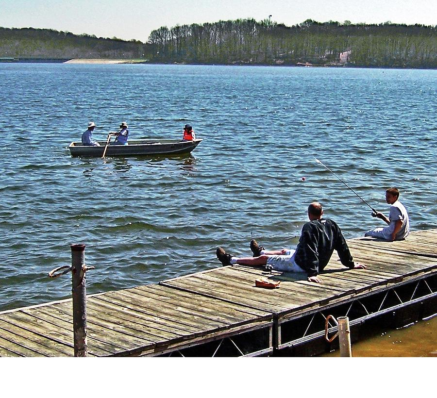 Boating And Sitting On The Dock Photograph by Iris Posner