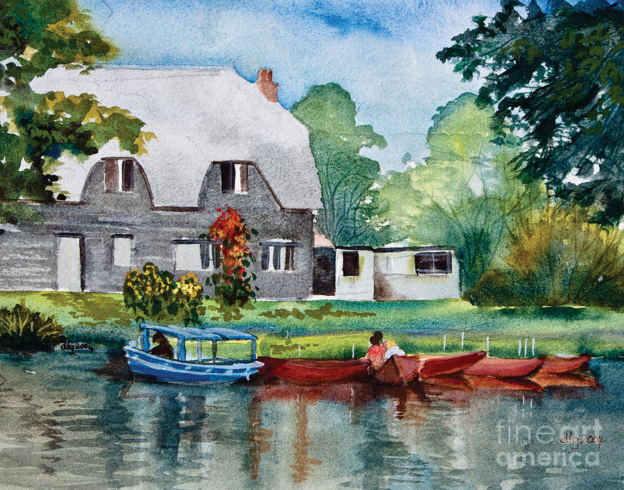 Landscape Painting - Boating In Essex Uk by Dianne Green