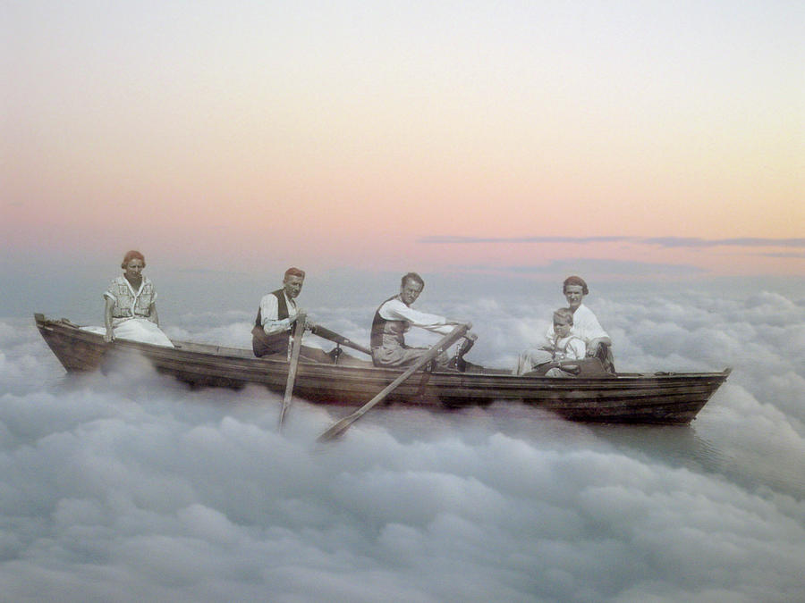 Surreal Photograph - Boating On Clouds by Martina Rall