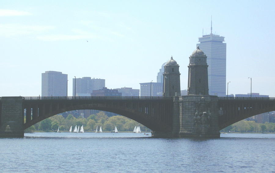 Boston Photograph - Boating On The Charles by Laura Lee Zanghetti