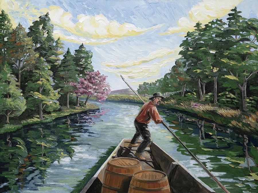 Boatman Painting - Boatman by Paula McHugh