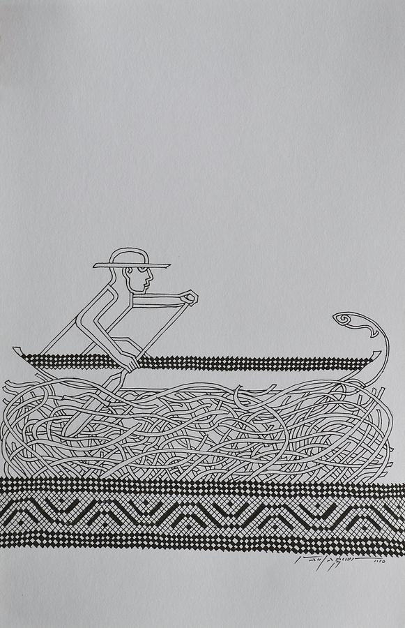 Boat Drawing - Boatman by Raul Agner