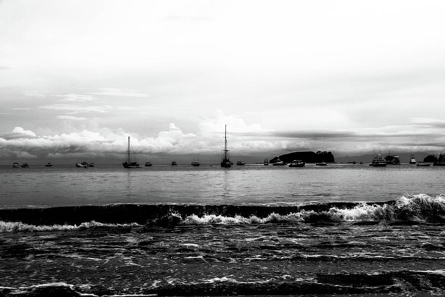 Costa Rica Photograph - Boats and Clouds by D Justin Johns