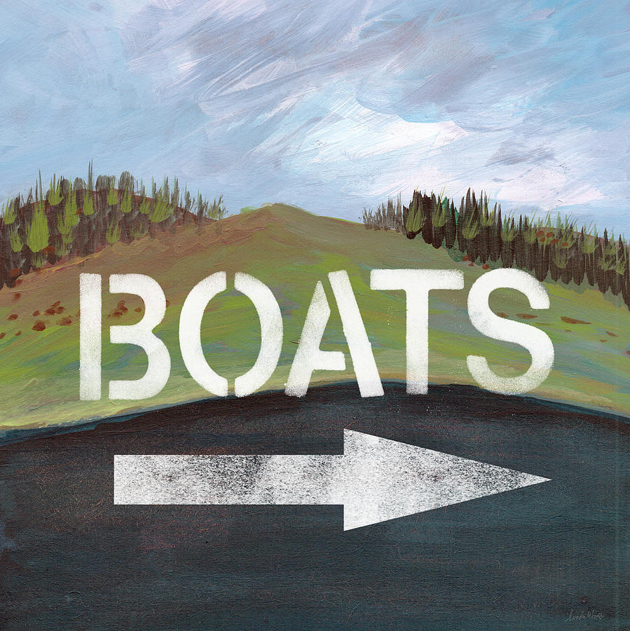 Boats Painting - Boats- Art By Linda Woods by Linda Woods