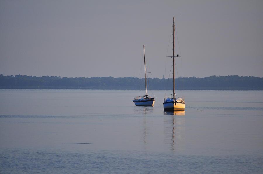 Boats Photograph - Boats At Dawn by Len Barber