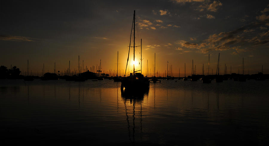Boats At Last Light Photograph by David Lee Thompson