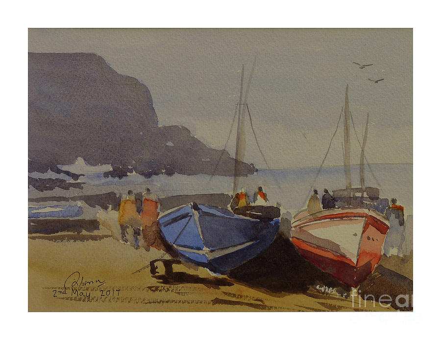 boats at quay by Godwin Cassar