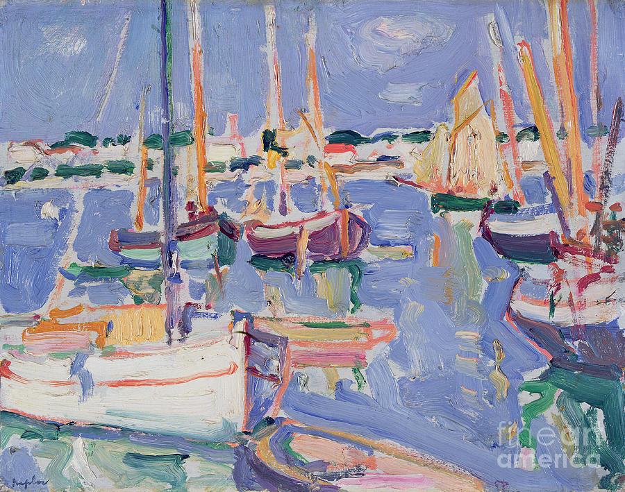 Boats Painting - Boats At Royan by Samuel John Peploe