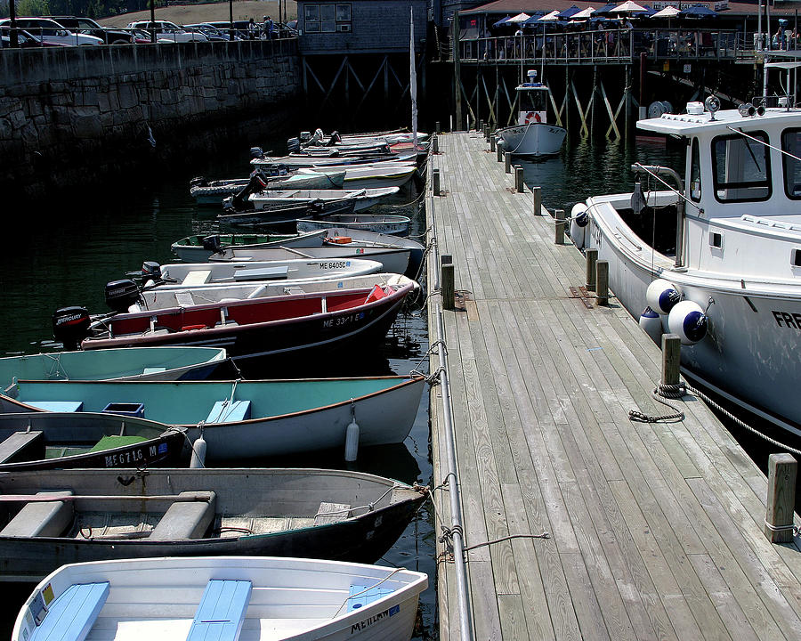 Boat Dock Photograph - Boats In A Line by Darrell Mcgahhey