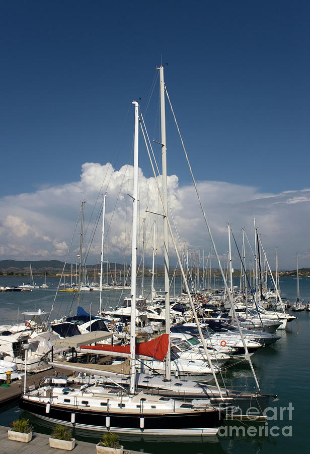 Mediterranean Photograph - Boats In Port Tuscany by Ezeepics
