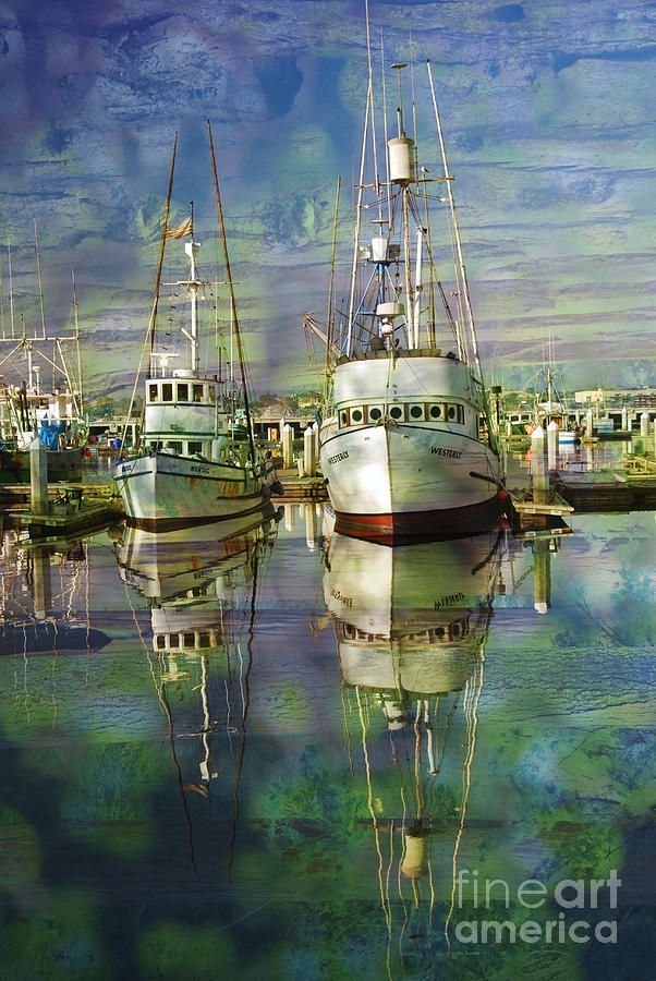Boats Photograph - Boats In The Harbor by Ronald Hoggard