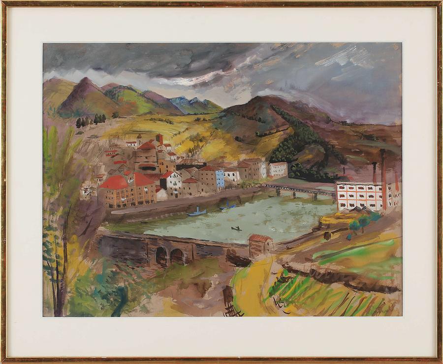 Boats, Isaac Grunewald, 1889-1946 Impressionist Painting