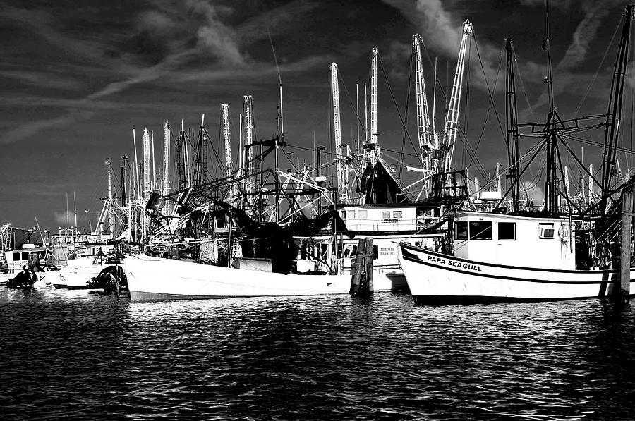 Mississippi Fishermen Digital Art - Boats by Alicia Morales