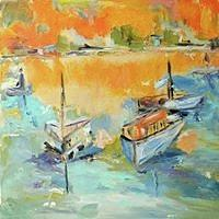 Boats Painting - Boats Of Galveston by Constance Paul