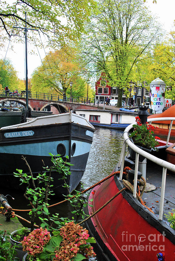 Amsterdam Photograph - Boats Of The Canal by Jost Houk