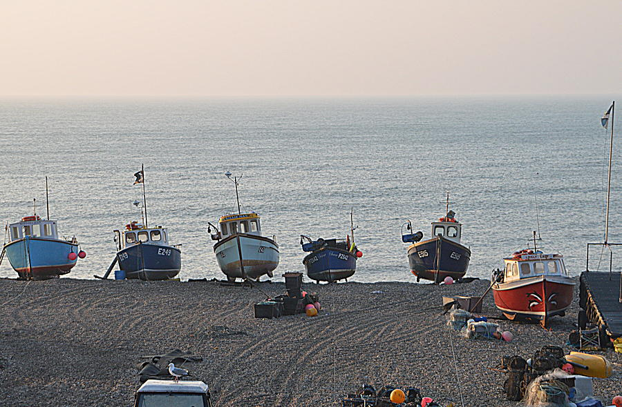 Boats Photograph - Boats On Beach by Andy Thompson