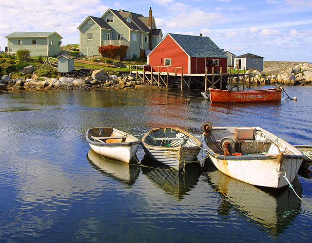 Boats Photograph - Boats On Peggys Cove by Daniel Kazor