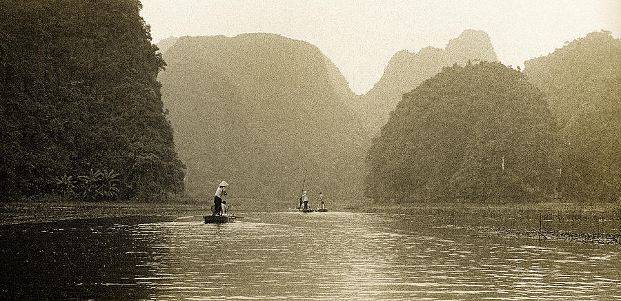 Tam Coc Photograph - Boats On The River Tam Coc No1 by Weston Westmoreland