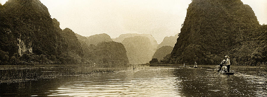 Tam Coc Photograph - Boats On The River Tam Coc No2 by Weston Westmoreland