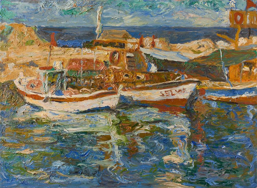 Landscape Painting - Boats by Robert Nizamov
