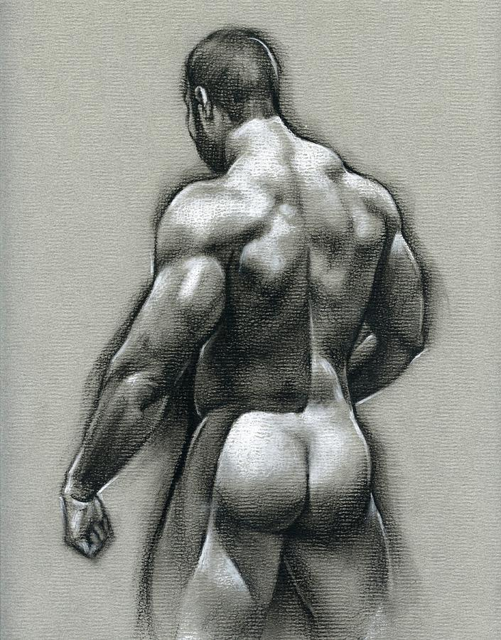 Male Drawing - Bob by Chris Lopez
