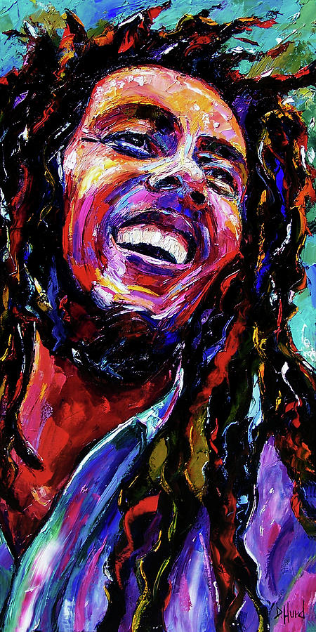 Bob Marley Painting - Bob by Debra Hurd