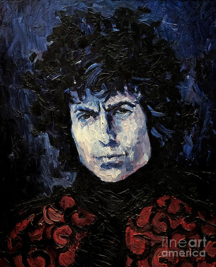 Dylan Painting - Bob Dylan 1967 by Lutz Baar