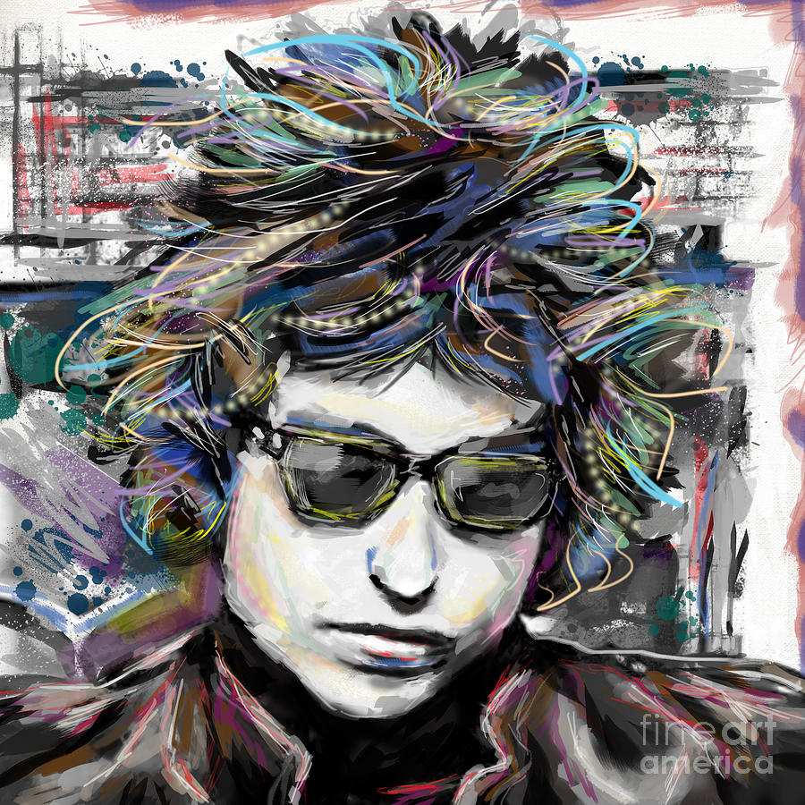 Bob Dylan Mixed Media - Bob Dylan Art by Ryan Rock Artist