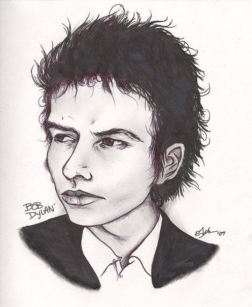 Bob Dylan Drawing - Bob Dylan by Elliott Danger James