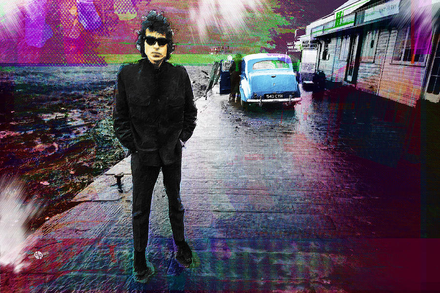 Bob Dylan Painting - Bob Dylan No Direction Home 1 by Tony Rubino