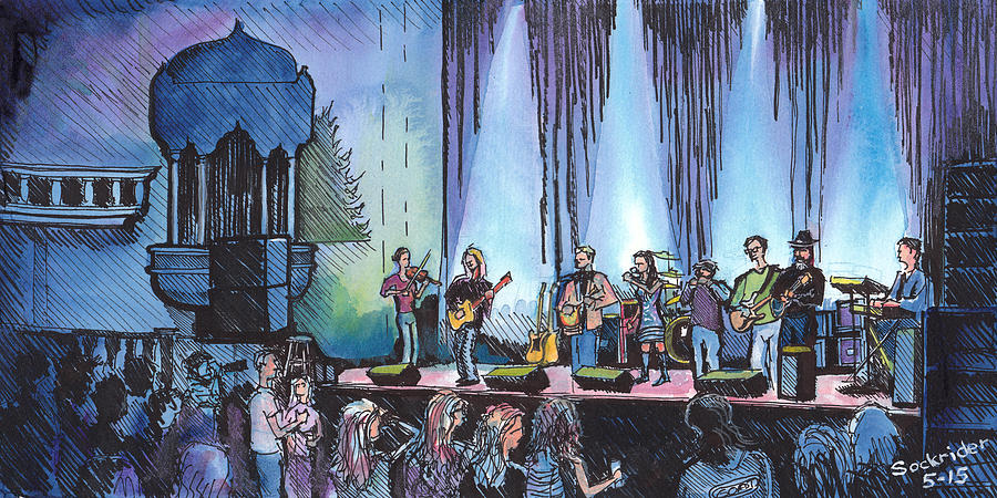 Bob Painting - Bob Dylan Tribute Show by David Sockrider