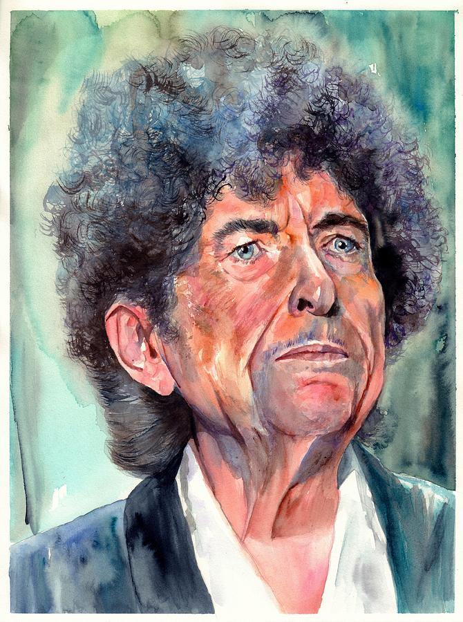 Bob Painting - Bob Dylan Watercolor Portrait  by Suzann Sines