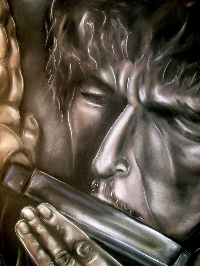 Bob Drawing - Bob Dylan by Zach Zwagil