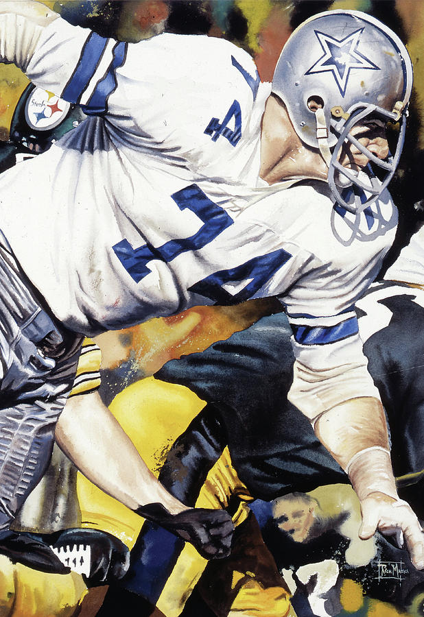Sport Painting - Bob Lilly by Rich Marks