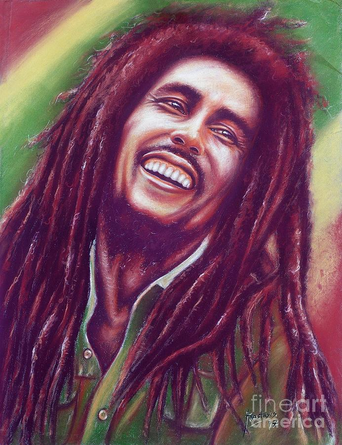 Bob Marley And The Wailers Painting - Bob Marley by Anastasis  Anastasi