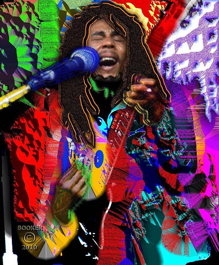 Jazz Digital Art - Bob Marley by Booker Williams