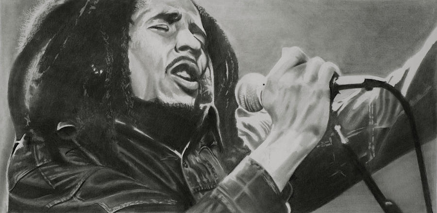Marley Drawing - Bob Marley by Don Medina