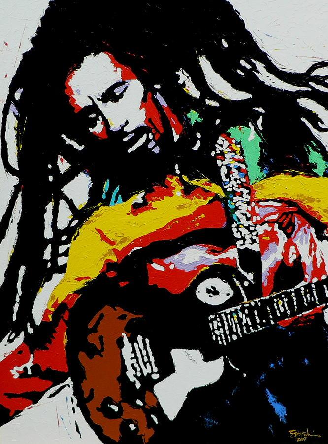 Reggae Painting - Bob Marley by Eddie Lim