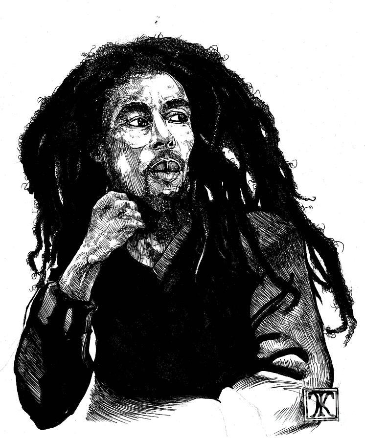 Bob Marley Painting By Keith Thurman